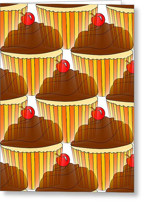 Cupcake Display Greeting Card