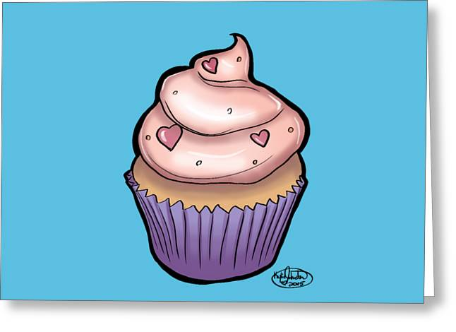 Cupcake Greeting Card by Kylie Johnston