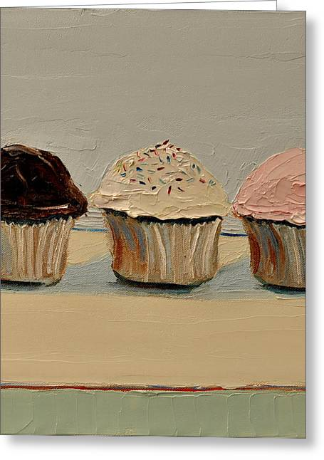 Cupcake Greeting Card by Lindsay Frost
