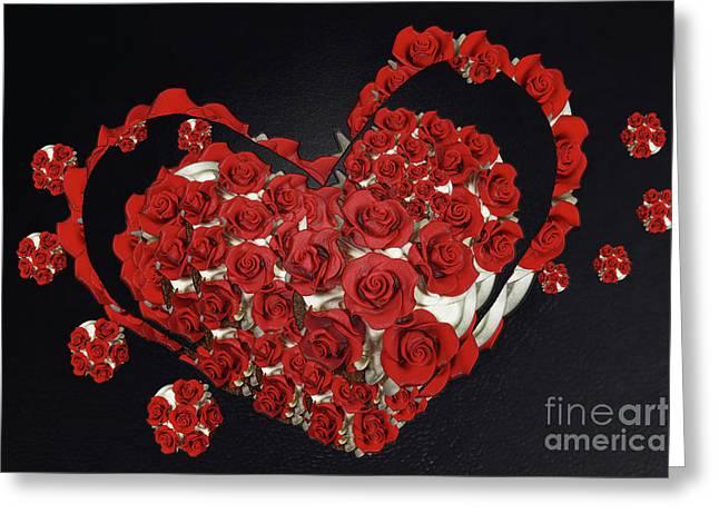 Cupcake Love Greeting Card by Afrodita Ellerman
