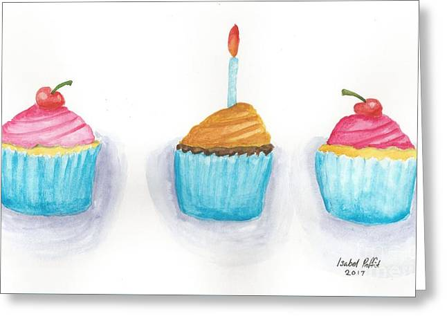 Cupcakes?  Greeting Card by Isabel Proffit