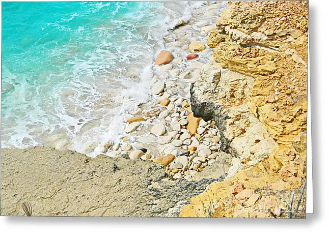 The Sea Below Greeting Card by Expressionistart studio Priscilla Batzell