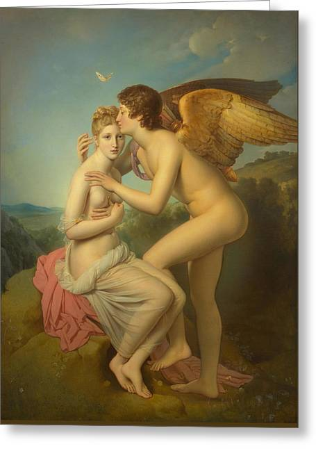 Cupid And Psyche-workshop Greeting Card