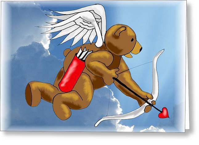 Cupid Bear Greeting Card by Scarlett Royal