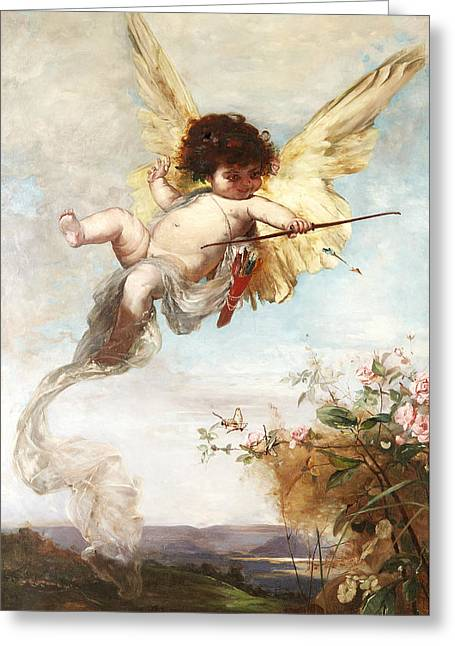 Cupid With A Bow Greeting Card