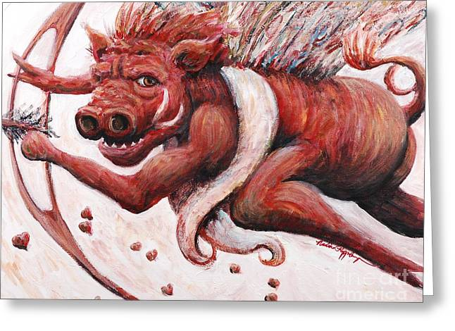 Cupig Greeting Card by Nadine Rippelmeyer