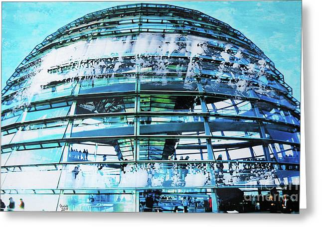 Cupola Of Reichstag Greeting Card