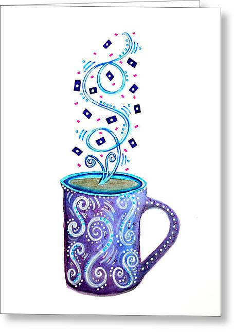 Cuppa Series - Cup Of Creativity Greeting Card