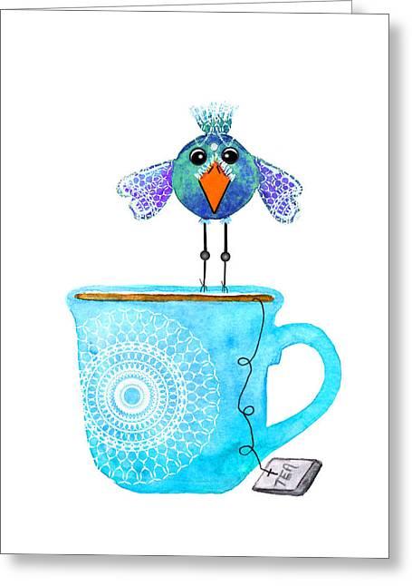 Cuppa Series - Tea Taster Greeting Card by Moon Stumpp