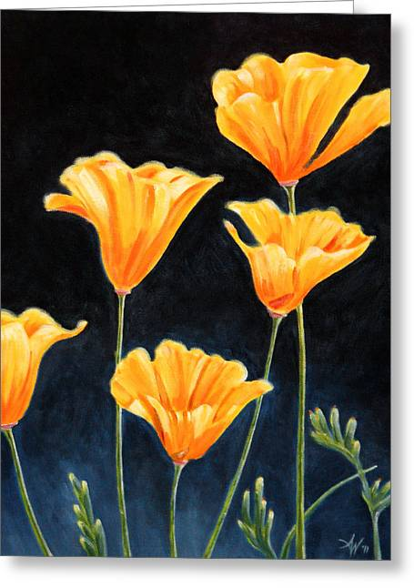 Cups Of Gold Greeting Card by Arie Van der Wijst