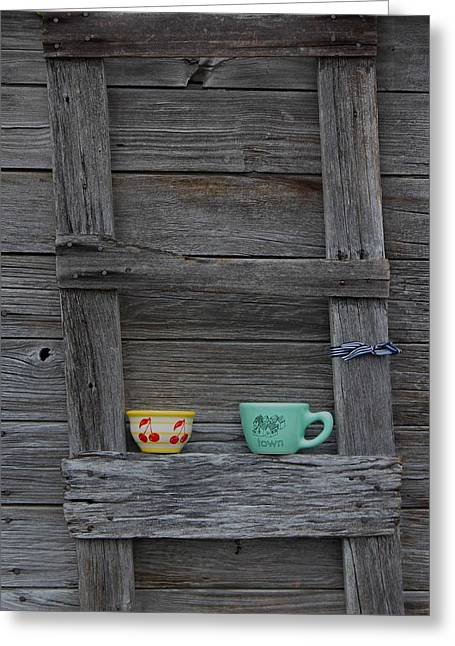 Cups On A Ladder Greeting Card by Twenty Two North Photography