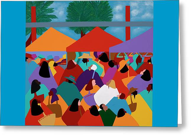 Curacao Market Greeting Card