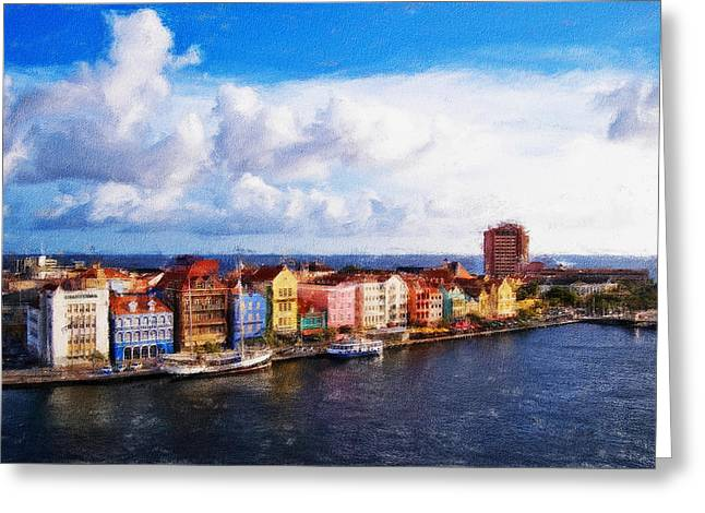 Curacao Oil Greeting Card by Dean Wittle