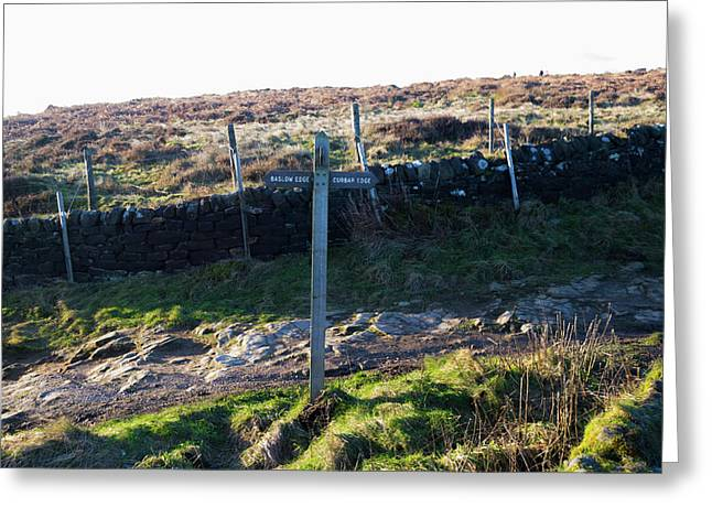 Curbar Edge Which Way To Go Greeting Card