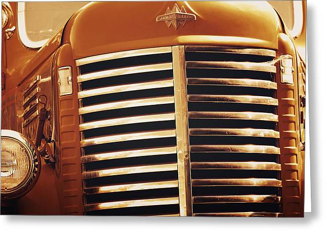 Classic Truck Greeting Cards - Curbside Classic Greeting Card by Christine Till