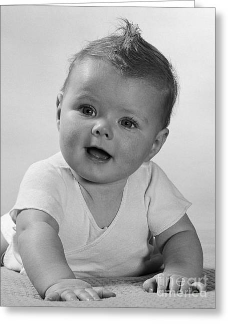 Curious Baby Crawling, C.1950s Greeting Card by H. Armstrong Roberts/ClassicStock