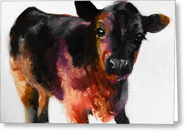 Buster The Calf Painting Greeting Card