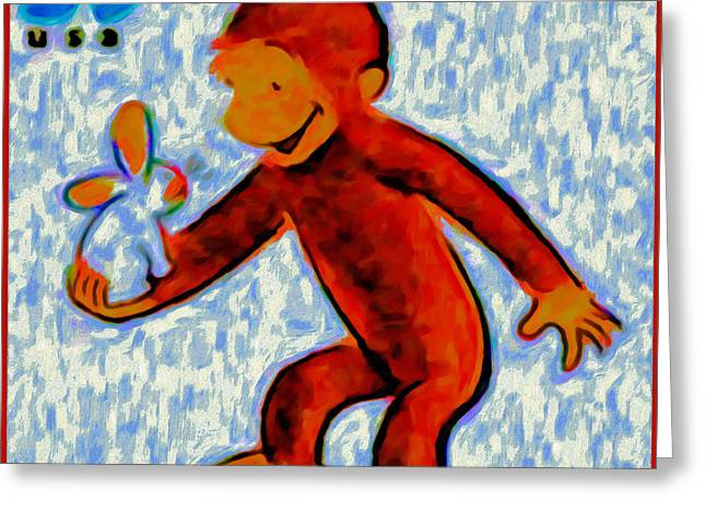 Curious George Greeting Card