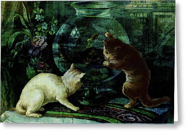 Curious Kittens Greeting Card by Sarah Vernon