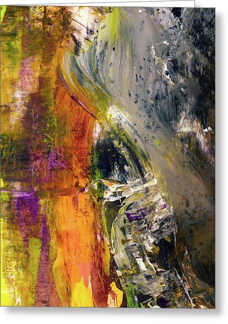 Curious Lion - Abstract Animal Art Paintings Greeting Card by Modern Art Prints