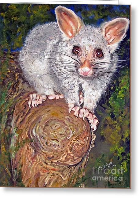 Curious Possum  Greeting Card