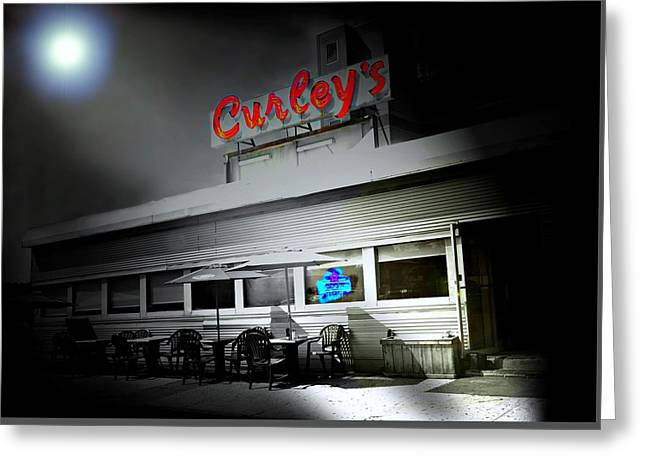 Curley's Diner Greeting Card by Diana Angstadt
