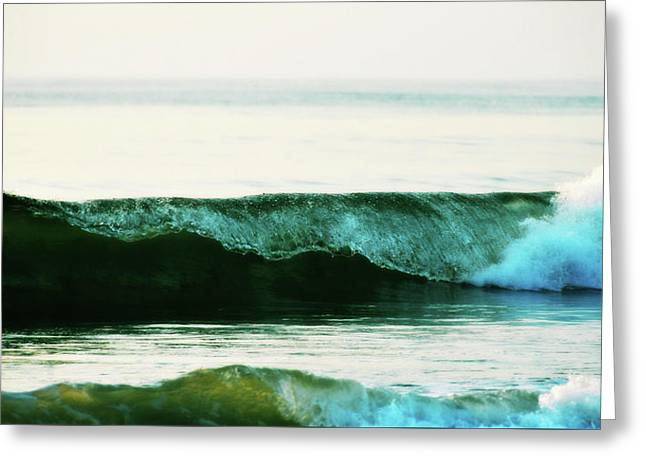 Curling Surf Greeting Card by JAMART Photography