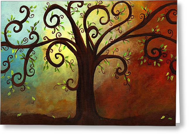 Curly Branches Tree Greeting Card by Elaine Hodges