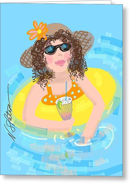 Curly Girl  Greeting Card