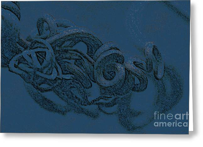 Greeting Card featuring the digital art Curly Swirly by Kim Henderson
