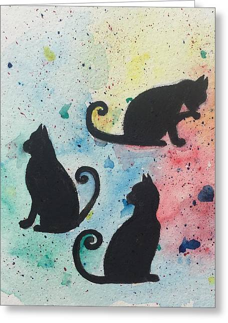 Curly Tails Greeting Card