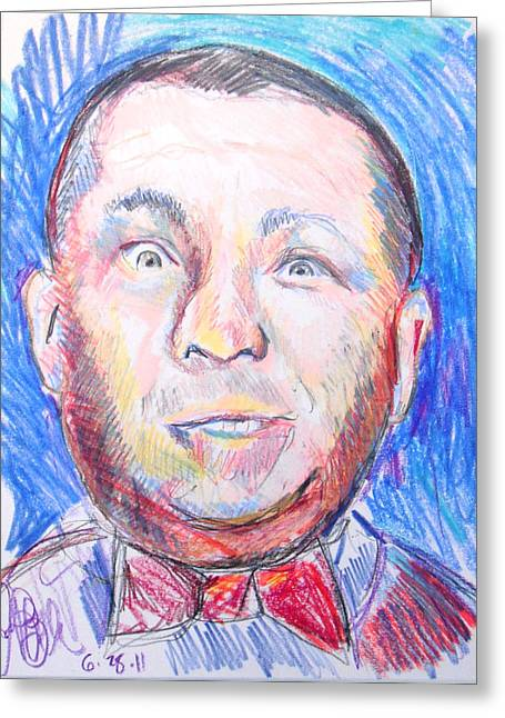 Curly Three Stooges  Greeting Card by Jon Baldwin  Art