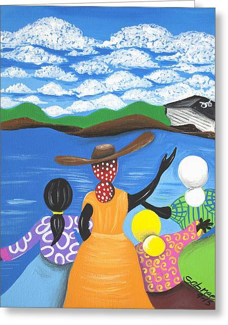 Current Friends Greeting Card by Patricia Sabree