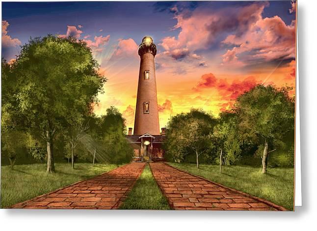 Currituck Beach Lighthouse 3 Greeting Card