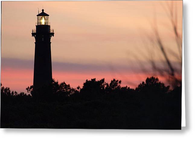 Currituck Beach Lighthouse At Sunset Greeting Card