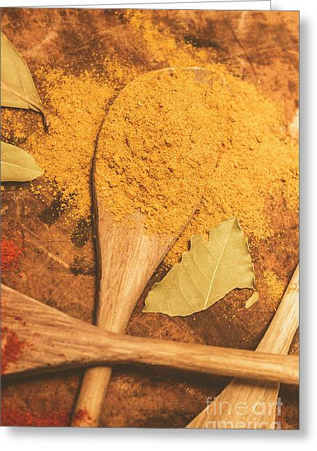 Curry Powder Spice Greeting Card by Jorgo Photography - Wall Art Gallery