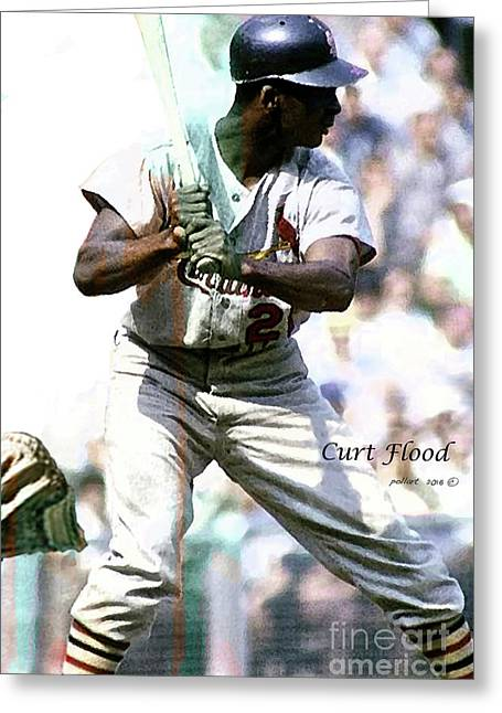 Curt Flood, St. Louis Cardinals Center Fielder Greeting Card