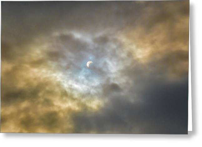 Curtain Of Clouds Eclipse Greeting Card