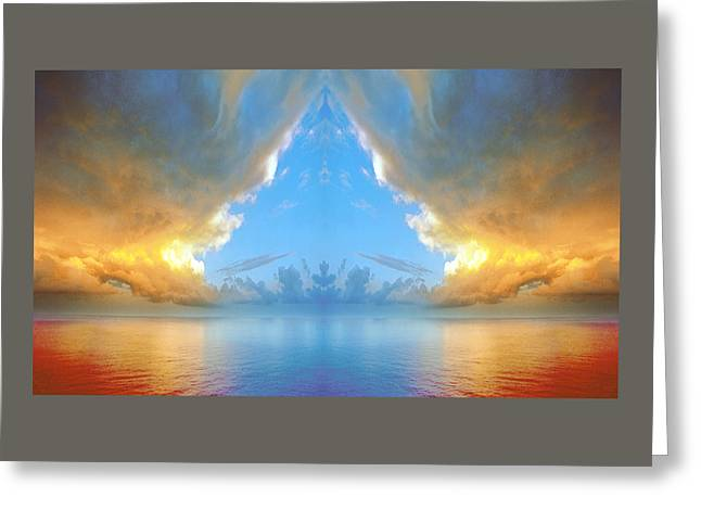 Curtain Raiser To A Mediterranean Daybreak Over Ancient Myths. Greeting Card by Daniel Furon