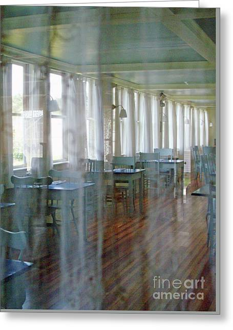 Curtained Off Dining Room Greeting Card