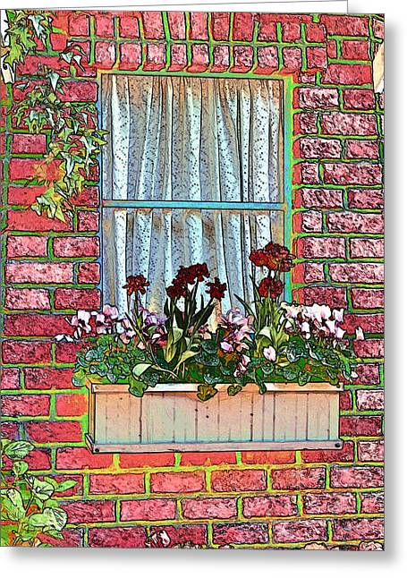 Curtains Greeting Card by Tom Prendergast