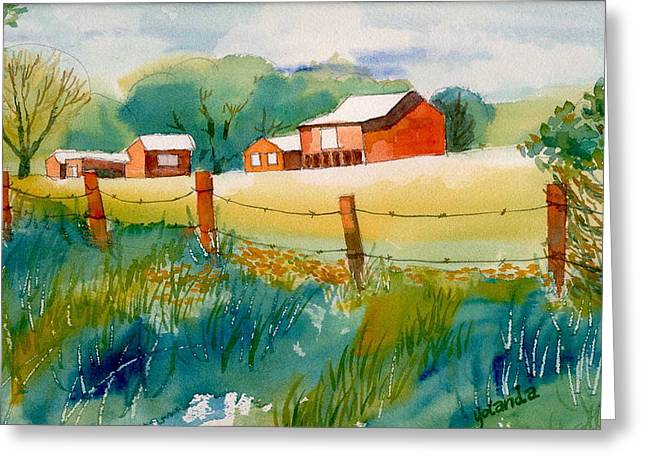 Curtis Farm In Summer Greeting Card by Yolanda Koh