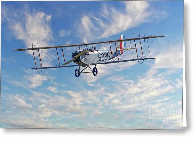 Curtiss Jn-4h Biplane Greeting Card by Jerry Fornarotto