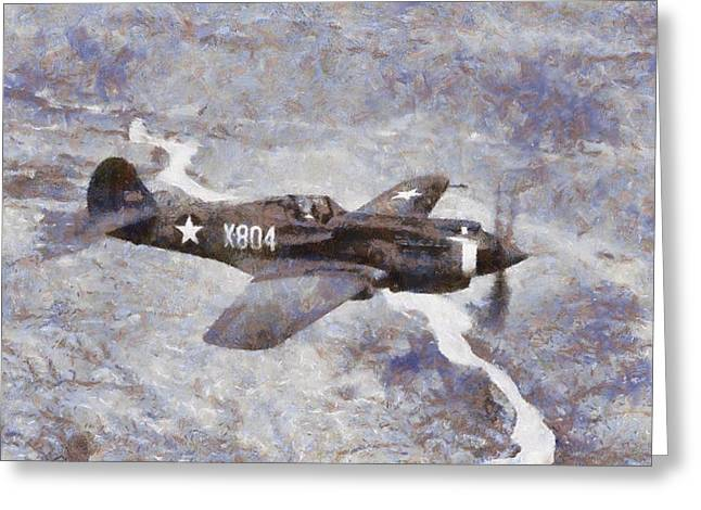 Curtiss P-40 In Flight Wwii Greeting Card