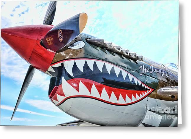 Curtiss P-40k The Warhawk  Greeting Card