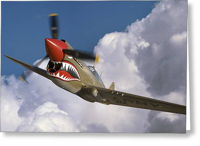 Curtiss P-40n Warhawk Greeting Card by Larry McManus