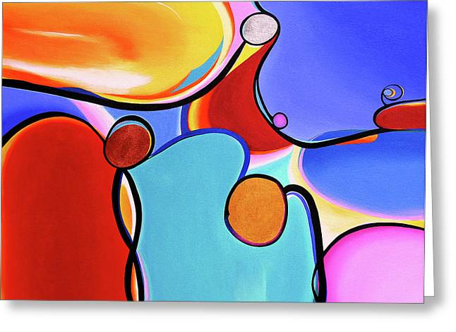 Curvaceous Abstract Greeting Card by Rayanda Arts