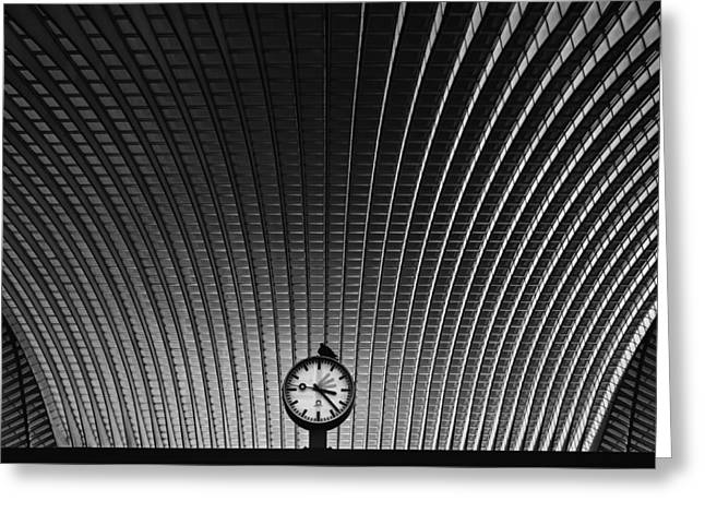 Curvature Of Spacetime Greeting Card by Rainer Inderst