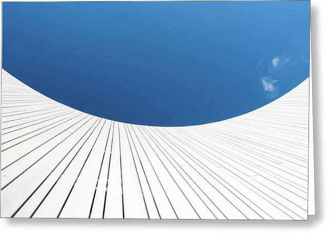 Curve Three Greeting Card by Wim Lanclus