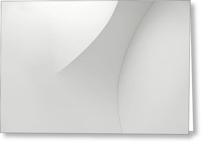 Curved Lines 1 Greeting Card by Scott Norris